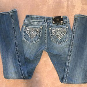 Size 26 MIss Me Blingy Boot Cut Jeans